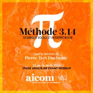 Stage Chant Méthode PY 3.14